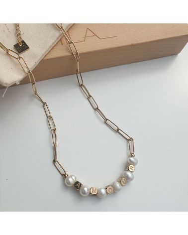 collier amour nacre