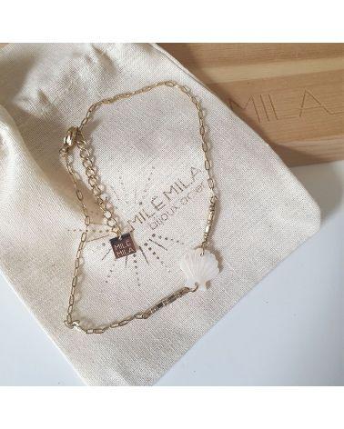 bracelet cheville coquillage