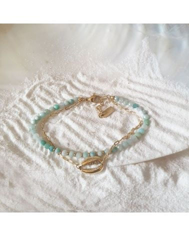 bracelet double rang amazonite