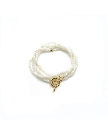 bracelet multi tour nacre