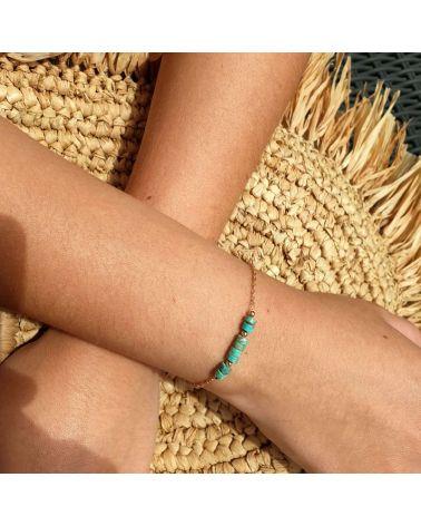 bracelet or et jaspe