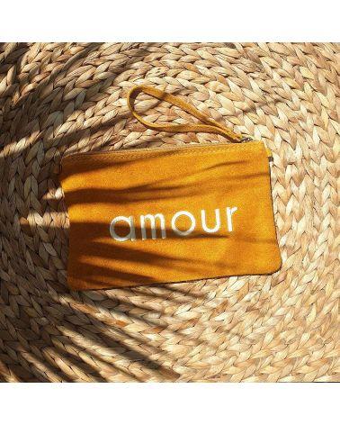 pochette daim amour