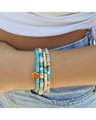bracelet 4 rangs heishi