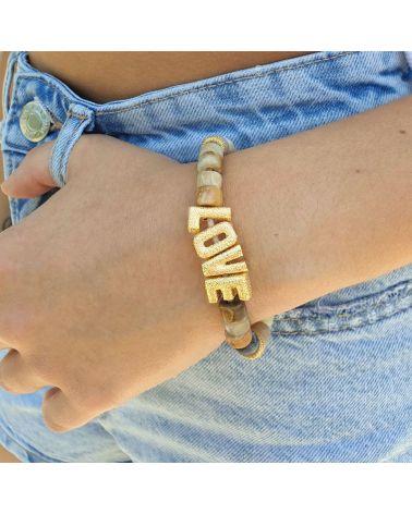bracelet rondelles pierre