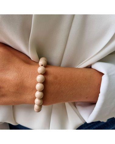 bracelet perle resine cappuccino