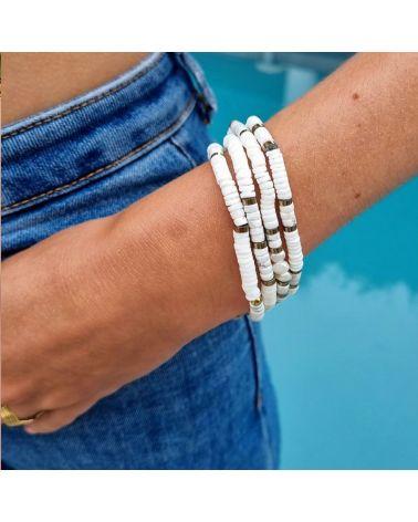 bracelet heishi howlite