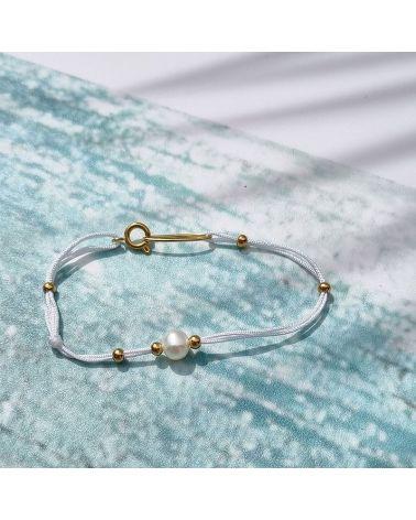 bracelet fil blanc