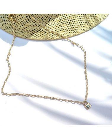 collier or pendentif cadenas