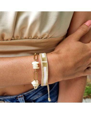 bracelet miyuki blanc