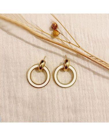 boucles d'oreilles cercle anneau