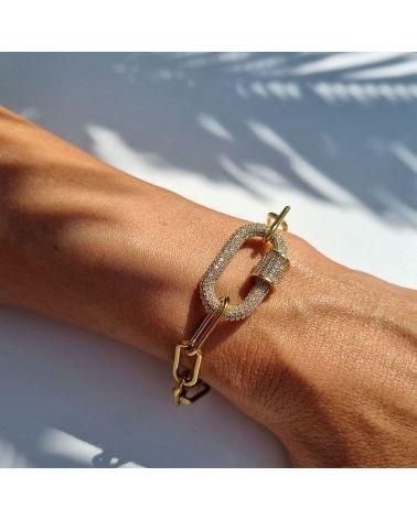 bracelet fermoir strass blanc