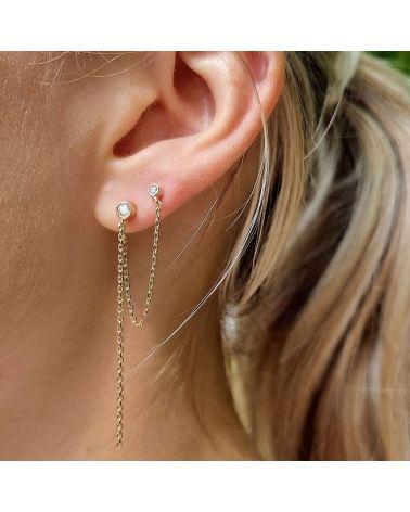 boucle d'oreilles double zirconium
