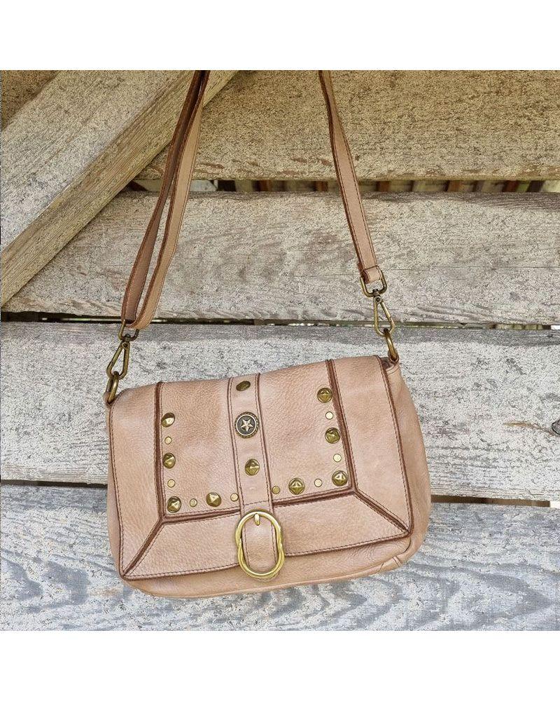 sac cuir vintage rivets