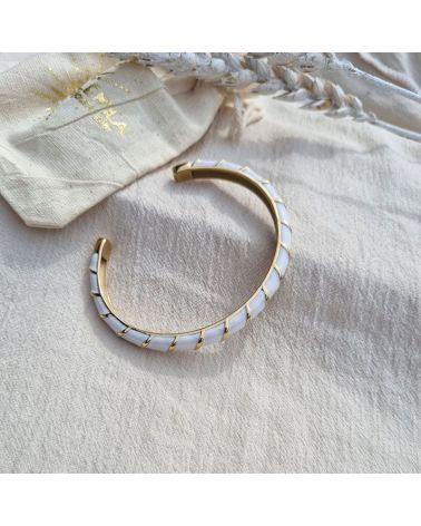bracelet jonc blanc