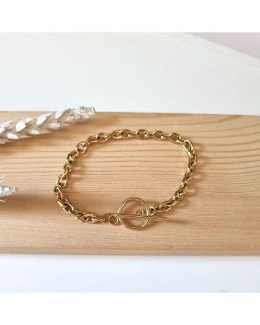 bracelet chaine dore
