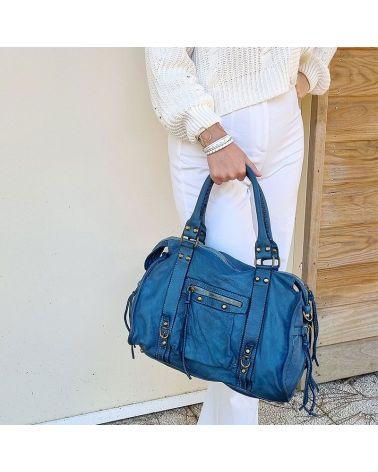sac esprit vintage bleu