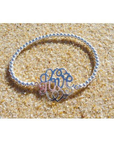 Bracelet argent Love