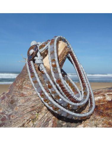 Bracelet wrap Gris cuivré
