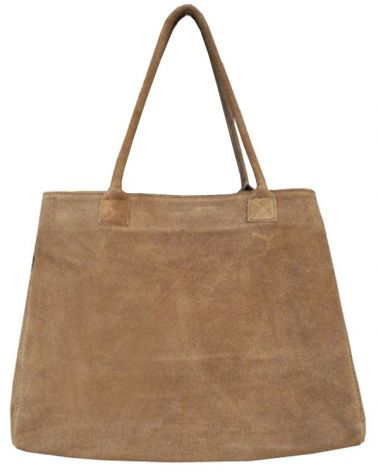 Sac cabas shopper franges Taupe