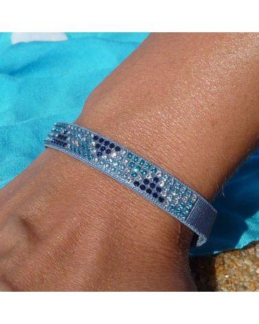 Bracelet mini triangle Bleu jean/Bleu