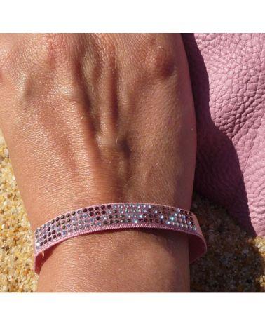 Bracelet mini triangle Rose poudré