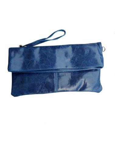 Pochette cuir Bleu
