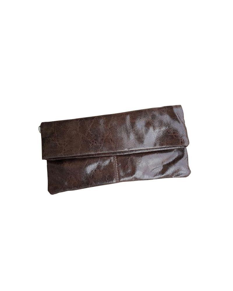 Pochette cuir marron