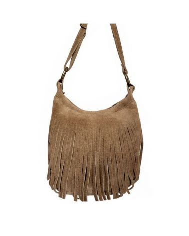Sac bourse franges daim