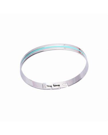 Bracelet jonc émail turquoise