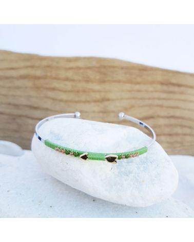 Bracelet jonc flèche vert