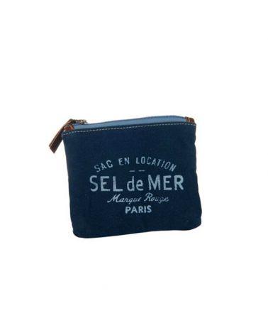 Pochette toile Sel de Mer bleu marine