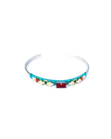 Bracelet jonc pierre rouge