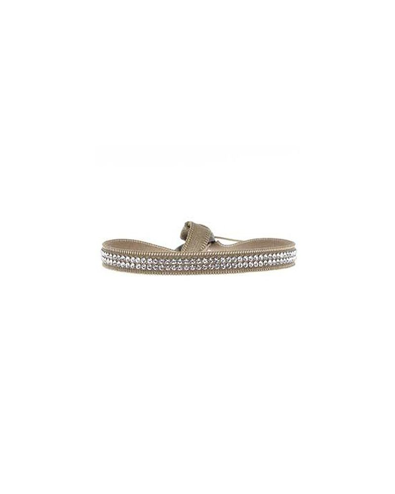 Bracelet Full 2 rangs Beige