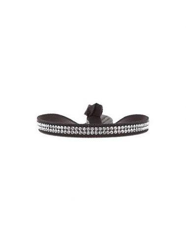 Bracelet 2 full rangs marron foncé