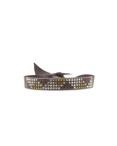 Bracelet mini triangle Marron glacé
