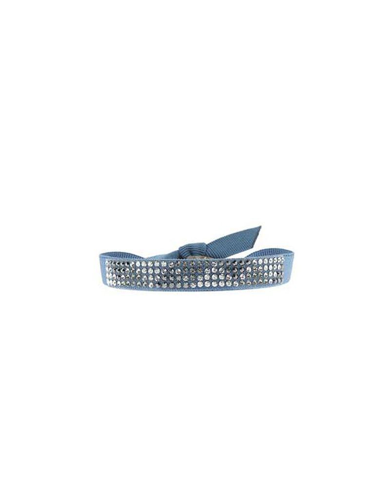 Bracelet mini triangle Bleu jean