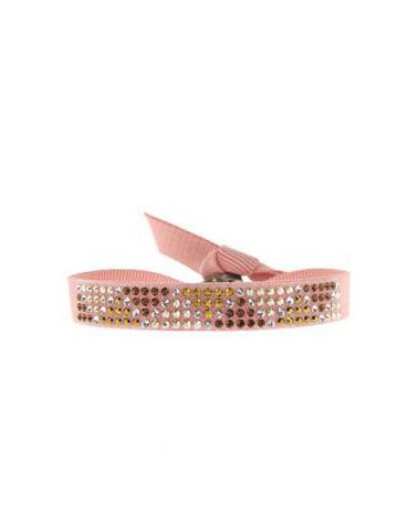 Bracelet mini triangle Rose poudré