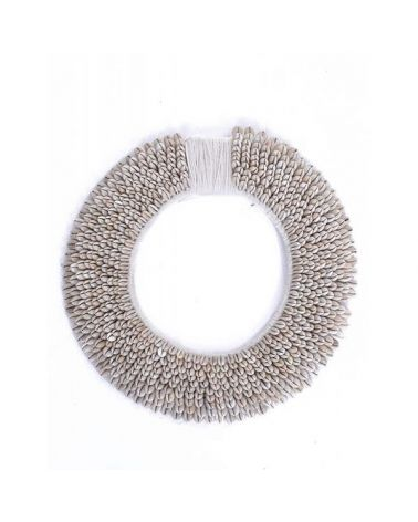 Plastron rond coquillages