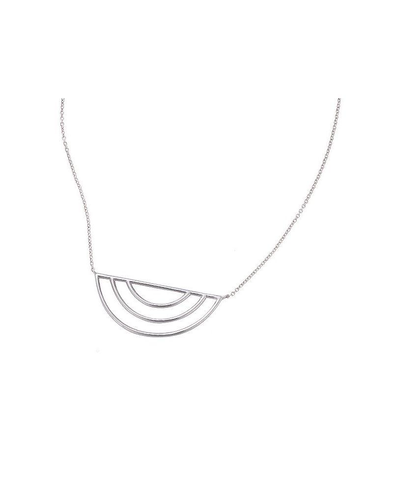 Collier ras de cou argent multi demi-cercles
