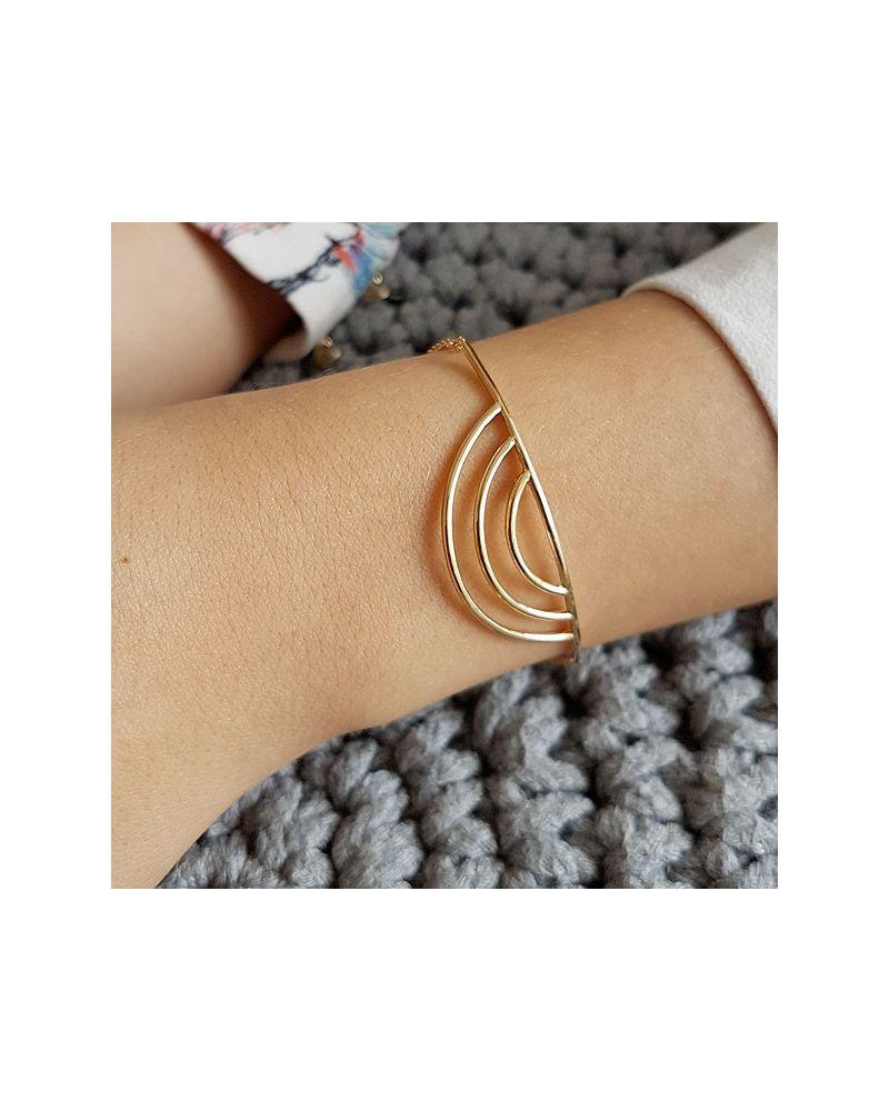 Bracelet plaqué or demi cercle