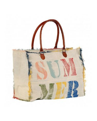 Cabas toile imprimé SUMMER