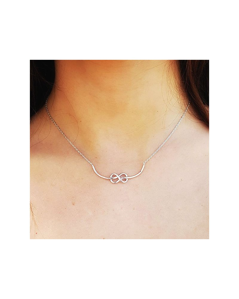 Collier argent noeud marin
