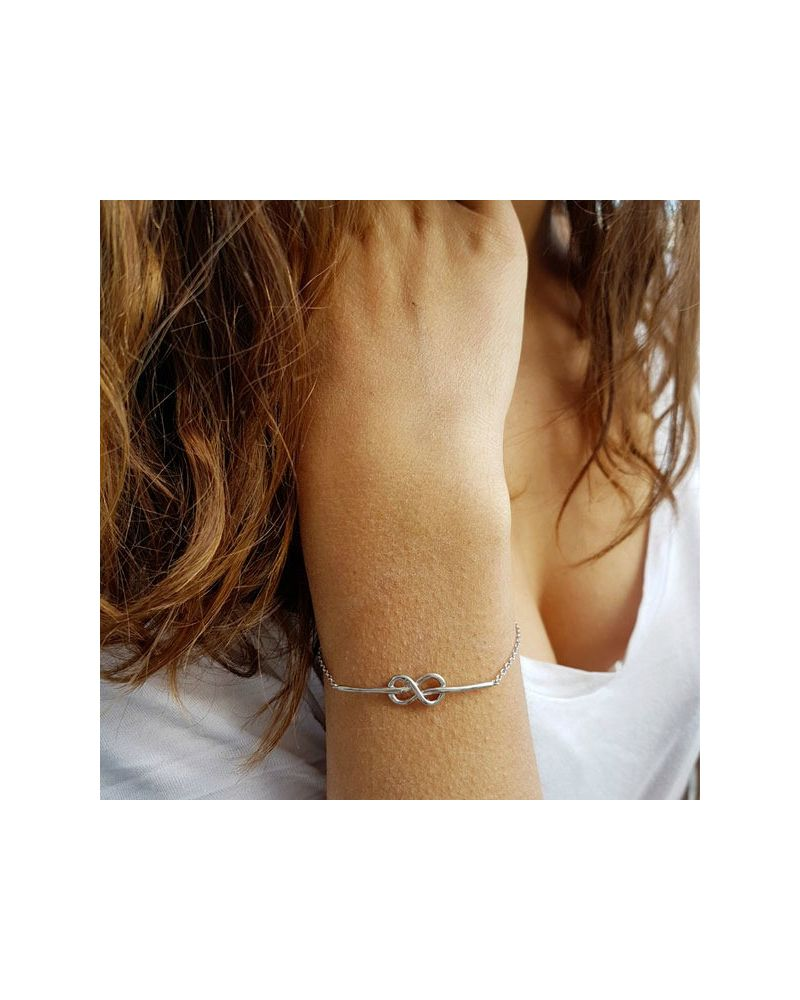 Bracelet argent 925 noeud marin