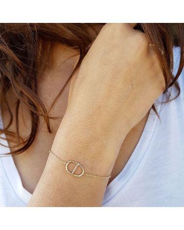Bracelet plaque or grain de café