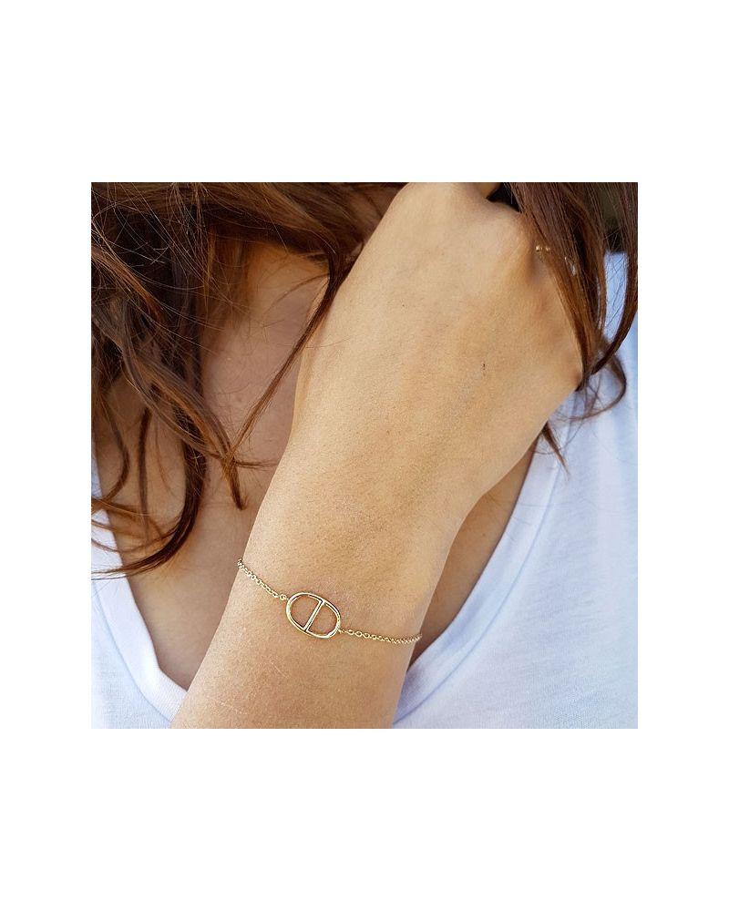 Bracelet argent grain de café
