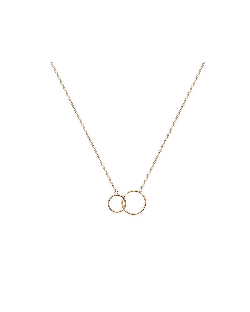 Collier cercles entrelacés or