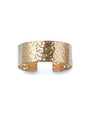 Bracelet manchette martelée Or