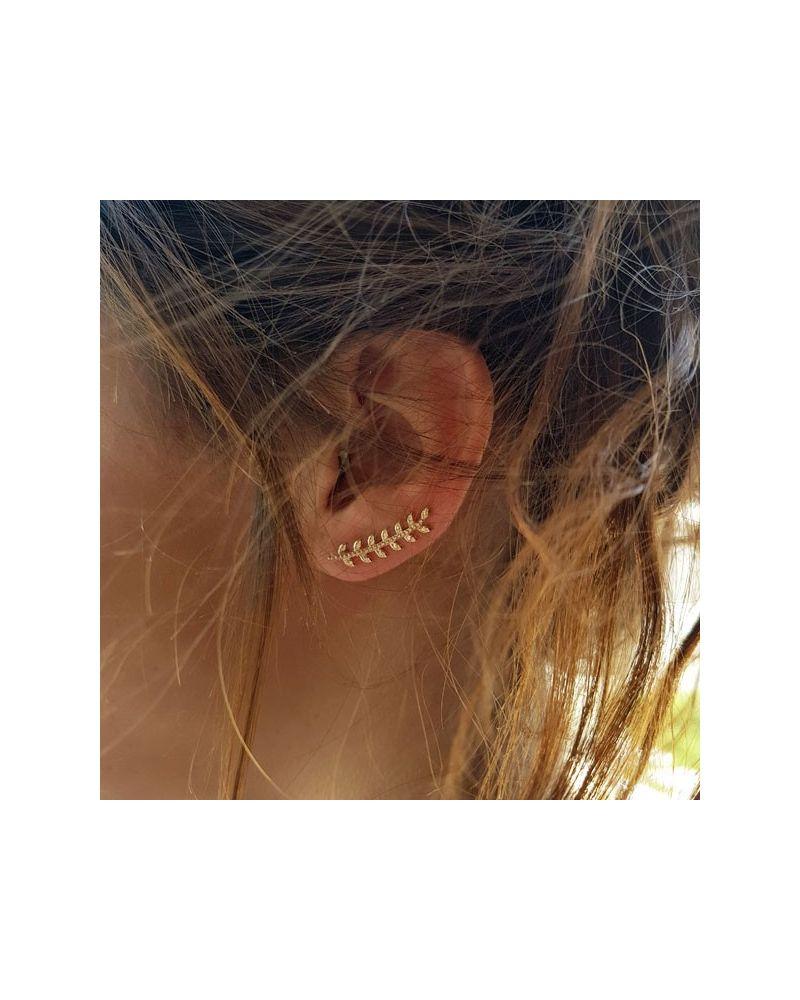 Contours d'oreilles laurier or