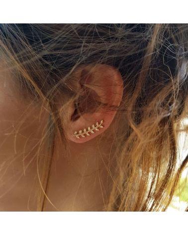 Boucles d'oreilles contour or