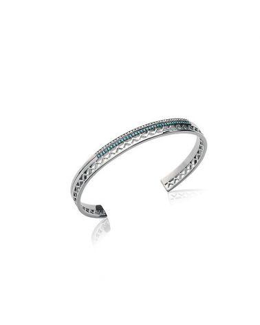 Bracelet jonc argent & turquoise